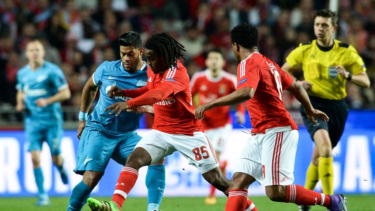 Sanches did well to keep Hulk quiet when Benfica played Zenit St Petersburg in the Champions League round of 16 in February