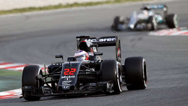 Jenson Button also completed more than a race distance in the McLaren