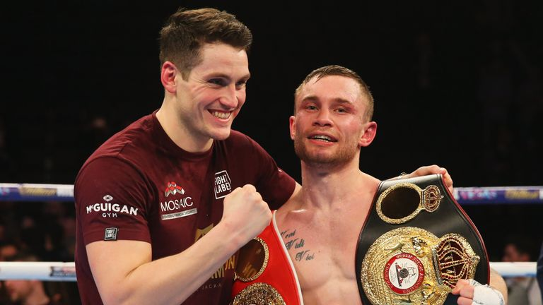 McGuigan also shared a number of memorable victories with Carl Frampton before their split this year
