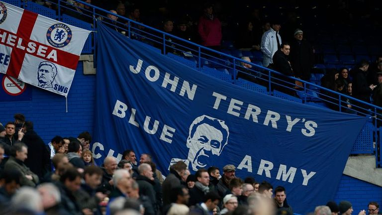 Chelsea fans showed their support for John Terry