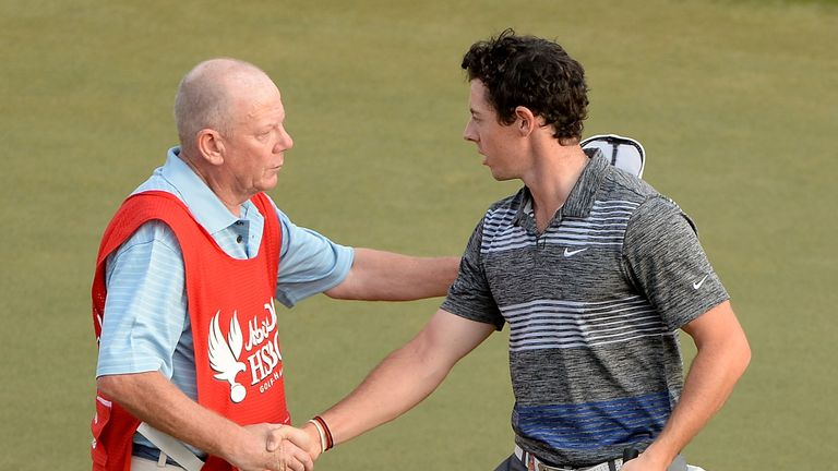 Dave Renwick was Ricardo Gonzalez's caddie in 2014 when they faced Rory McIlroy in Abu Dhabi