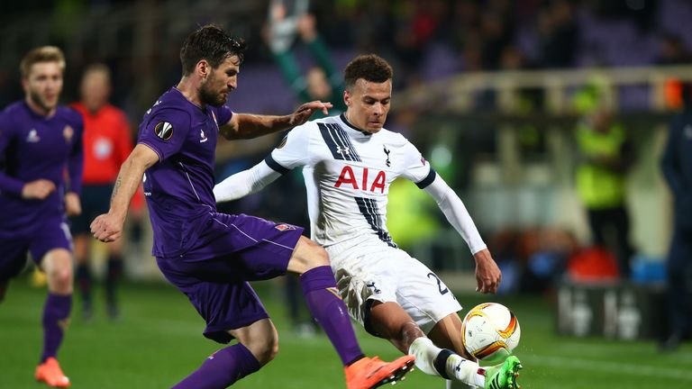 Dele Alli appeared to kick out at a Fiorentina player on Thursday