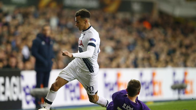 Dele Alli is suspended for Thursday's game with Dortmund