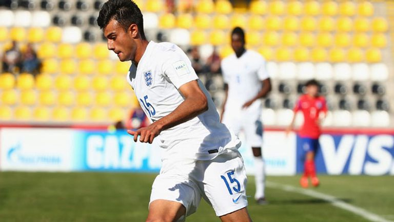 Easah Suliman in action at the FIFA U17 World Cup in Chile