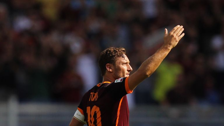 Francesco Totti is expected to return after a calf injury