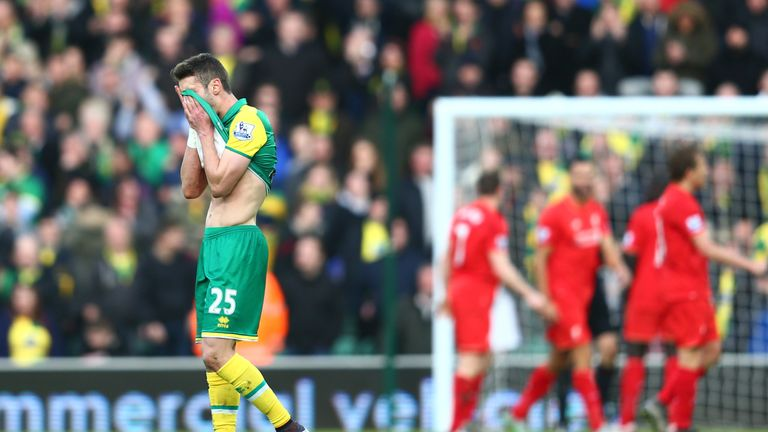 Norwich have slipped down the table in the last month