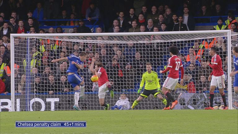 Chelsea wanted a penalty when the ball struck Daley Blind's arm