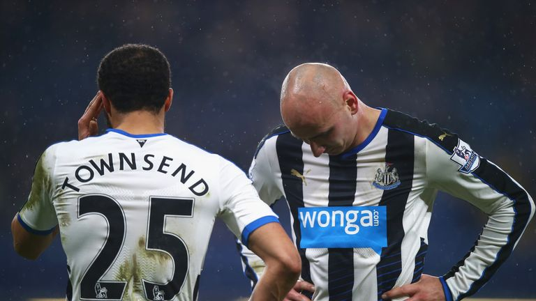 Newcaslte bought Andros Townsend (L) and Jonjo Shelvey (R) in the January transfer window