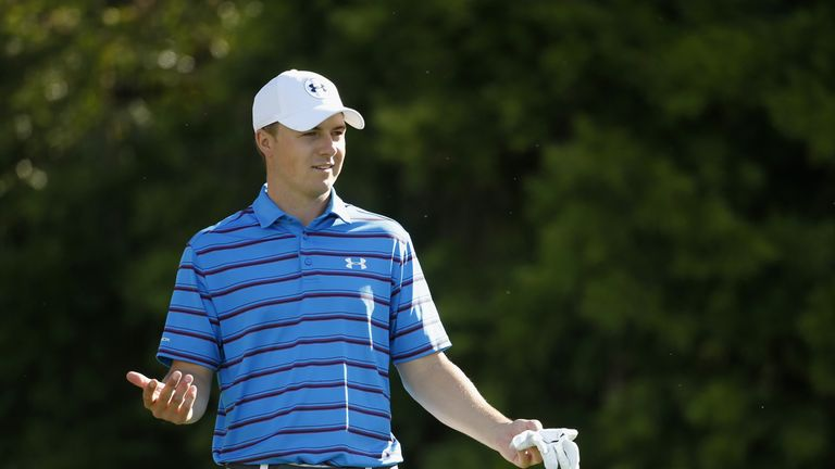 Spieth only just made the cut after three rounds at Pebble Beach