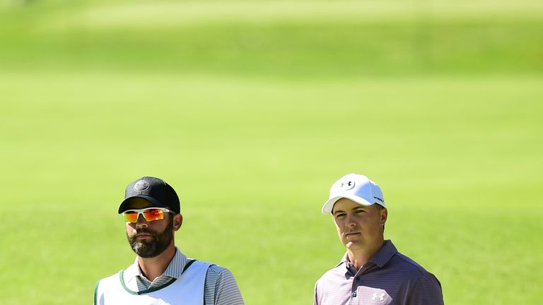 Spieth and caddie Michael Greller remained positive after his second-round 68