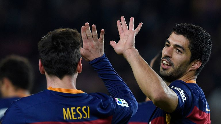 Lionel Messi and Luis Suarez shared all seven goals in the first leg