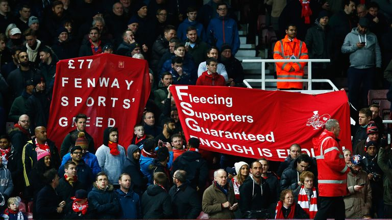 Some Liverpool fans are unhappy with the new ticket prices at Anfield