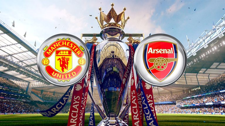 Watch Manchester United v Arsenal on Super Sunday, 1pm, Sky Sports 1 HD