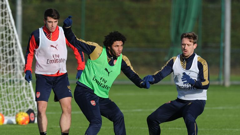Mohamed Elneny (middle) is one of only two senior players signed by Arsenal in the past two windows
