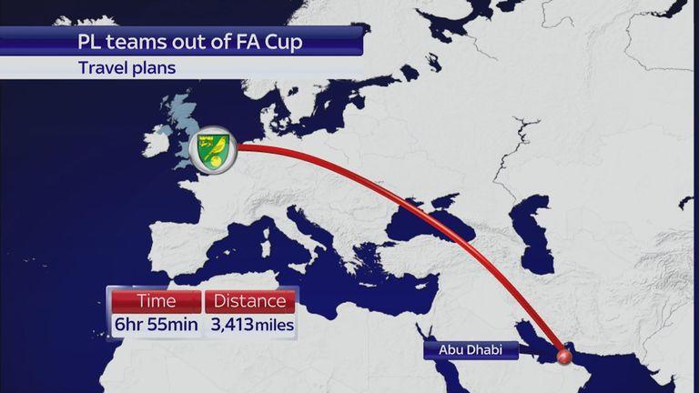 Norwich will spend a week in Abu Dhabi