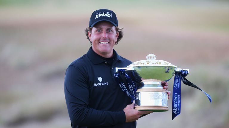 Mickelson edged out Branden Grace to win the title at Castle Stuart in 2013