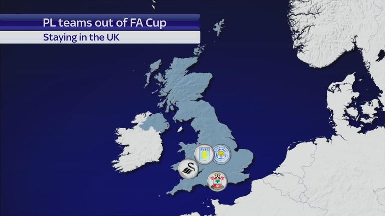 Which clubs are staying in the UK this week?