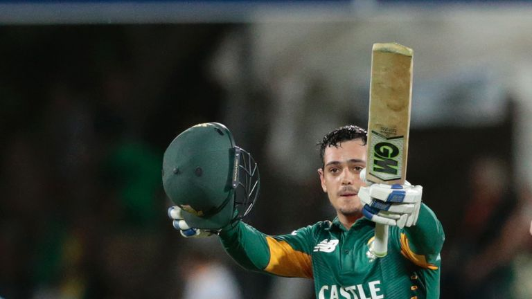 South Africa's Quinton De Kock was a former opening partner of Jennings' in the under 19s
