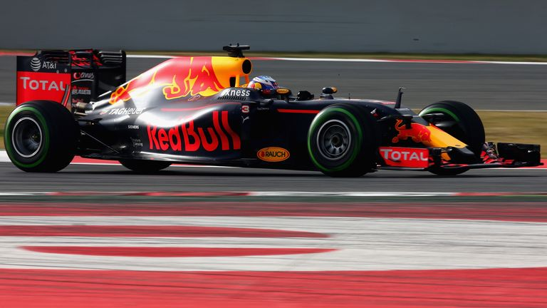 Daniel Ricciardo debuts the Red Bull