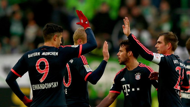 Robert Lewandowski and Bayern Munich celebrate