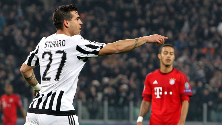 Stefano Sturaro of Juventus celebrates his goal against Bayern Munich