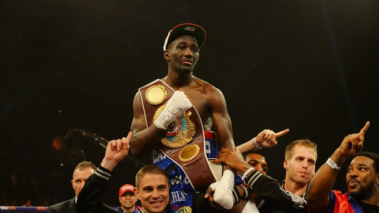 Crawford has held WBO world titles at lightweight and super-lightweight