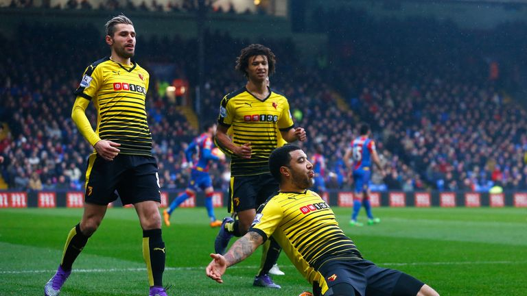 Watford beat Palace 2-1 at Selhurst Park in the Premier League last month