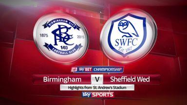 Birmingham 1-2 Sheff Wed