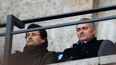 Jose Mourinho was watching on with his assistant Rui Faria (L) at the Olympic Stadium