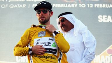 Mark Cavendish returned to the top of the Tour of Qatar general classification