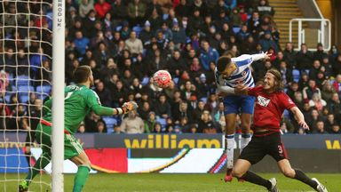 Michael Hector (C) scores against West Brom in the FA Cup fifth round