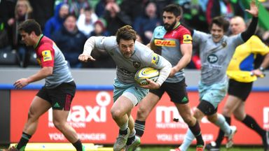 Ben Foden breaks through to score the winning try