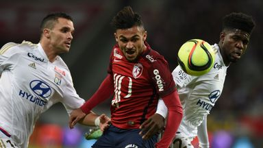 Saints have made a record bid for Lille's Sofiane Boufal (centre)