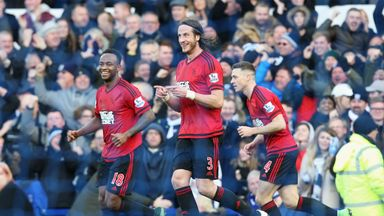 Jonas Olsson 's West Ham's goal against Everton