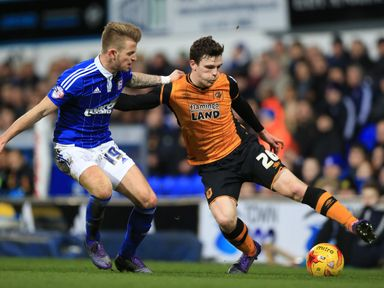 Luke Hyam (l): Has signed a new deal with Ipswich