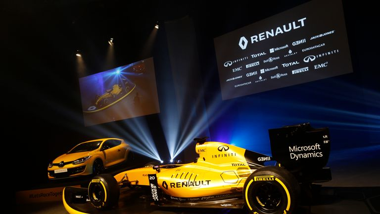 renault unveil yellow 2016 livery ahead of australian gp f1 news. Black Bedroom Furniture Sets. Home Design Ideas