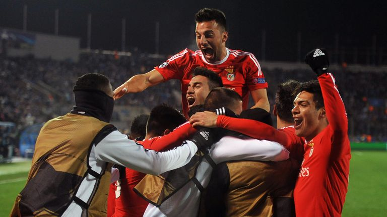 Benfica through to the Champions League quarter-finals