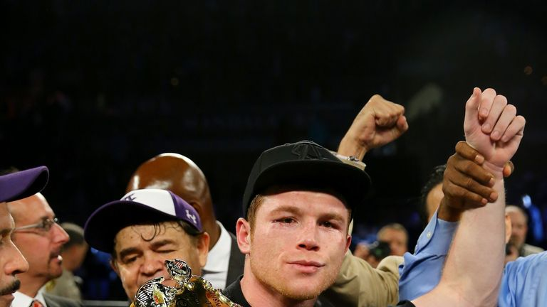 Canelo Alvarez defends his WBC belt against Amir Khan on May 7
