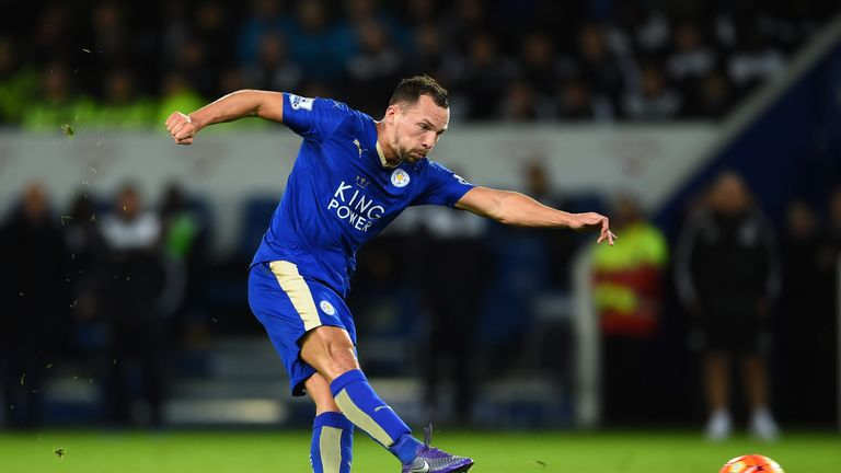 Danny Drinkwater scores Leicester's equalising goal against West Brom