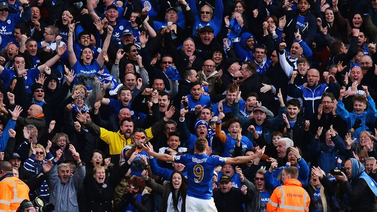 Leicester fans celebrate goals so vociferously that seismic spikes occur