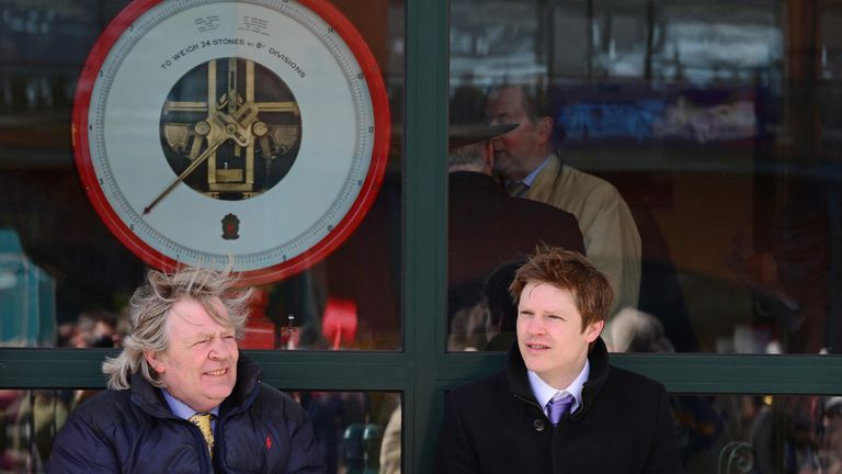 Trainer Mouse Morris (l) could run Mozoltov at Cork