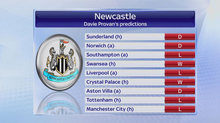 Davie Provan sees just two more wins for Rafa Benitez's Newcastle