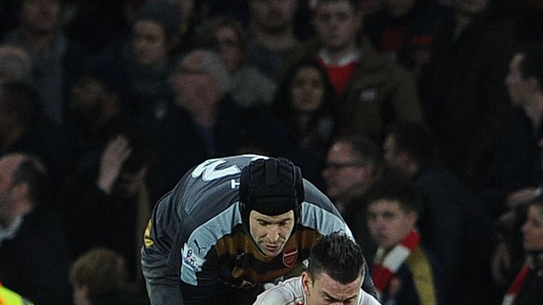 Petr Cech and Laurent Koscielny will both miss Arsenal's game against Tottenham