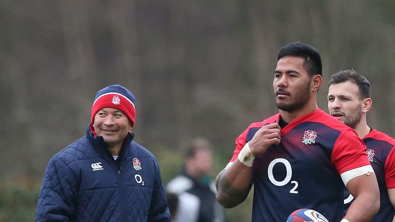 Eddie Jones says Manu Tuilagi is a long way off from playing Test rugby but is heading in the right direction