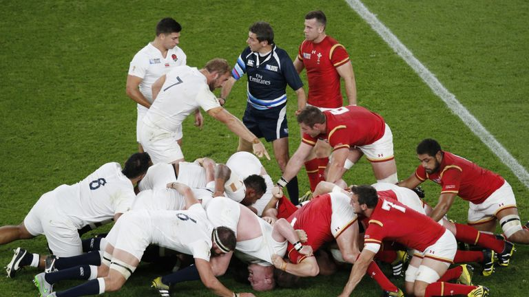 England and Wales have pointed fingers at illegal scrummaging this week