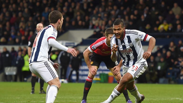 Salomon Rondon celebrates scoring the only goal of the game