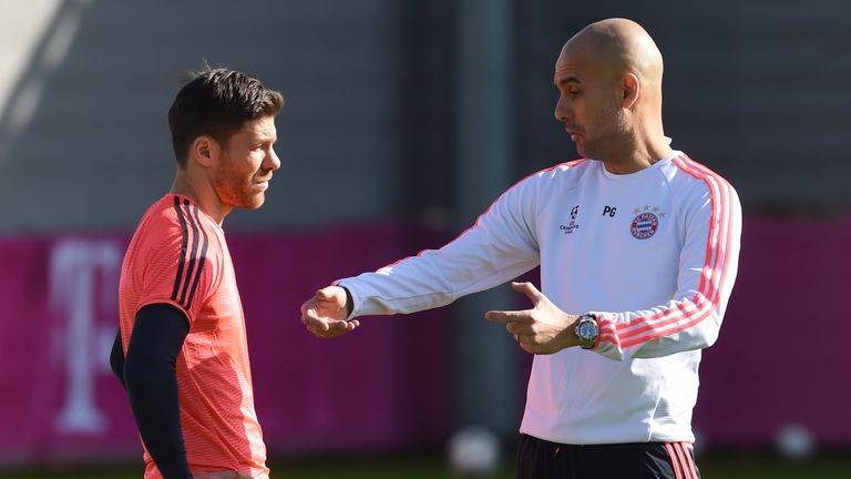 Alonso (left) says Guardiola is very demanding of his players