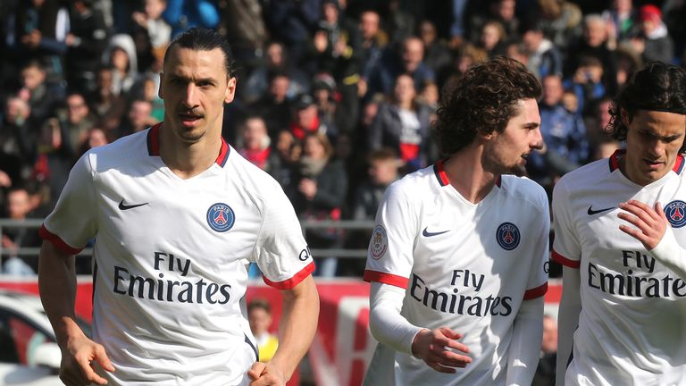 Zlatan Ibrahimovic is out of contract at the end of the season