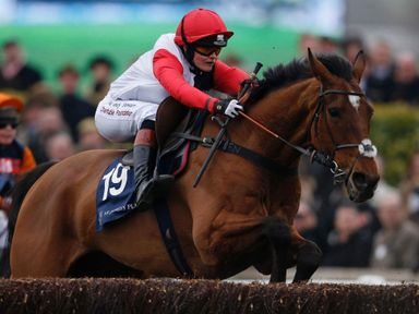 Victoria Pendleton finishing fifth at the Cheltenham Festival