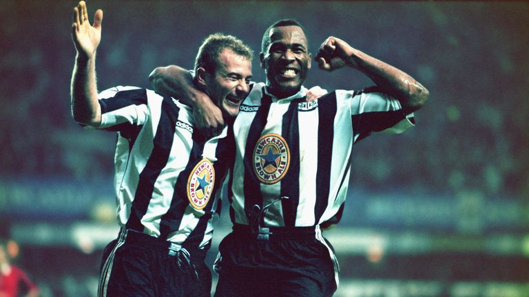 Alan Shearer (left) and Les Ferdinand (right) both won the prize with Newcastle but cost the club a combined £21m